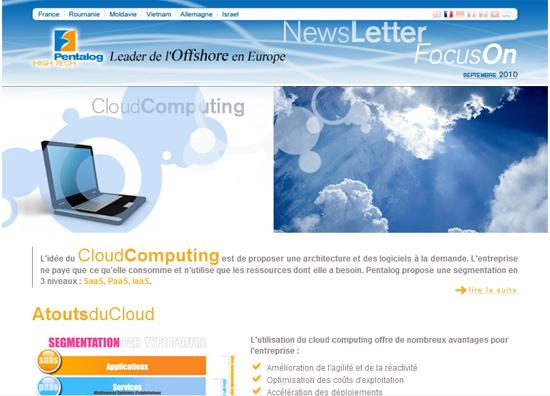 Pentalog lance ses offres Cloud Computing