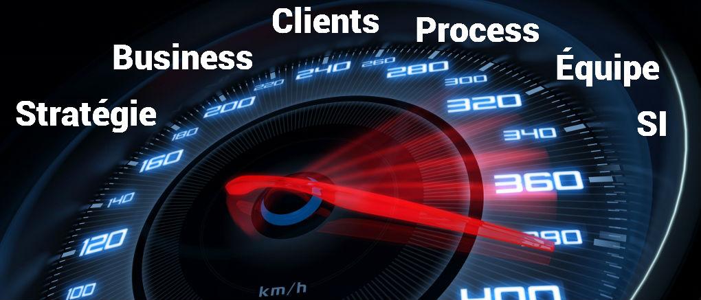 Stratégie, Business, Clients, Process, Équipe, Systèmes d'information
