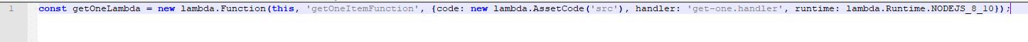 services aws - fonction lambda - cdk